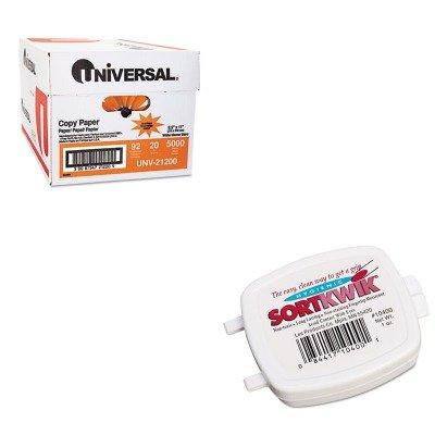 KITLEE10400UNV21200 - Value Kit - Lee Sortkwik Fingertip Moisteners LEE10400 and Universal Copy Paper UNV21200