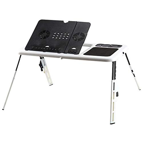 AYNEFY Laptop Computer Stand Laptop Lap Desk E-Table Bed Foldable Table with USB Cooling Fans Stand Tv Tray