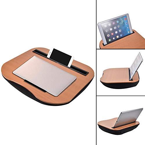Lap Desk fot Laptop Light Laptop Lap Desk Bamboo Portable Lap Desk with Phone Tablet Holder for iPad Study Work