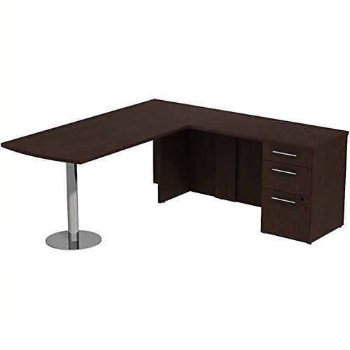 BSH300S042MR - Bush Industries Bush Business 72W x 30D Peninsula Desk in L-Station with 3Dwr Pedestal