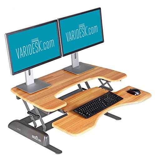 Height-Adjustable Standing Desk - VARIDESK Pro Plus 36 – Butcher Block