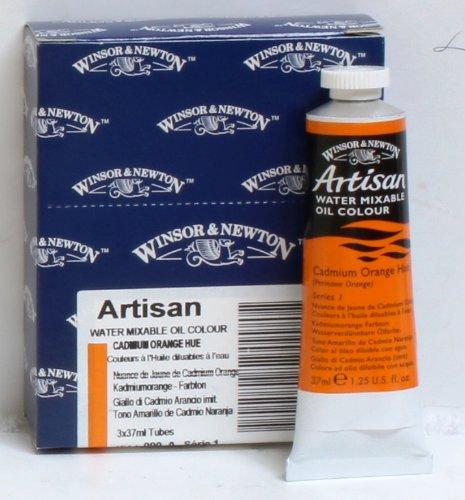 Artisan Oil Water Mixable Oil Color Paint 37ml12floz Cadmium Orange Hue  090 Box of 3
