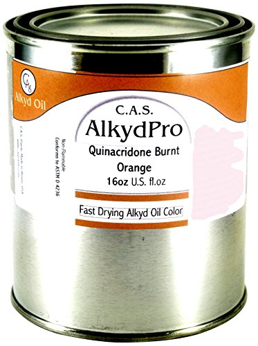CAS Paints AlkydPro Fast-Drying Oil Color Paint Can 16-Ounce Quinacridone Burnt Orange