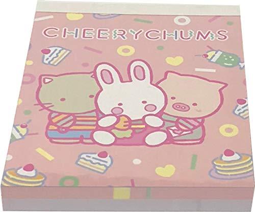 Yamanoshigyo Sanrio Cheerychums Mini Block Notepad Memo Pad Paper 2design 100sheets Japan 80s Pop