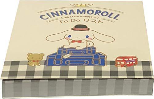 Yamanoshigyo Sanrio Cinnamoroll to do List Block Notepad Memo Pad Paper 100sheets Stationery Japan Go Out