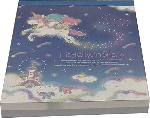 Yamanoshigyo Sanrio Little Twin Stars Mini Block Notepad Memo Pad Paper 2design 100sheets Japan Meteor
