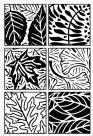 Jack Richeson Artist Paintstik Leaves Rubbing Plate - 7 x 7 in - Set - 6