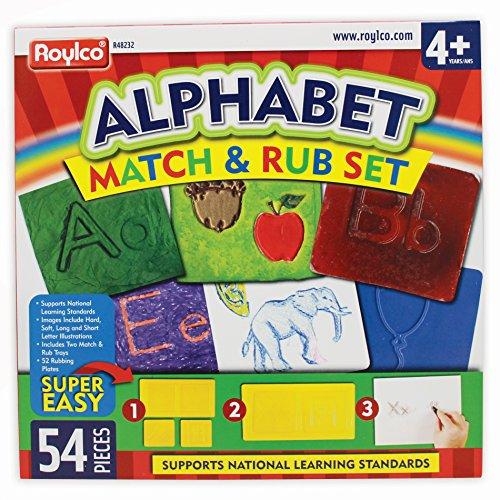 Roylco Alphabet Match Rub Set Rubbing Plates