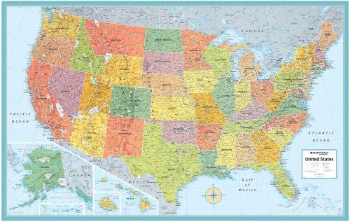 Rand Mcnally Us Wall Map M Series USA Wall Maps 50x32