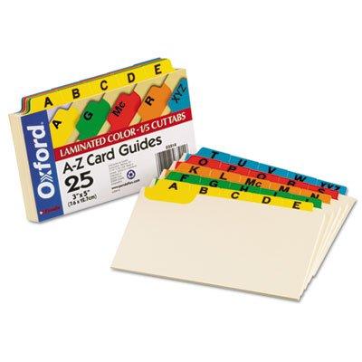 Laminated Index Card Guides Alpha 15 Tab Manila 3 x 5 25Set Sold as 25 Each