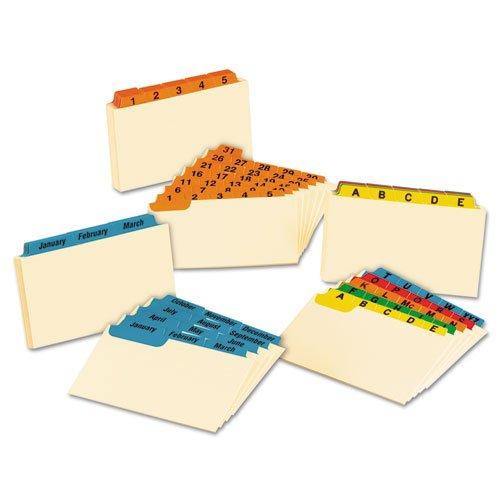 Laminated Tab Index Card Guides Daily 15 Tab Manila 3 x 5 31Set