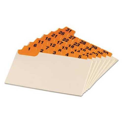 Oxford Laminated Index Card Guides Daily 15 Tab Manila 3 x 5 31Set