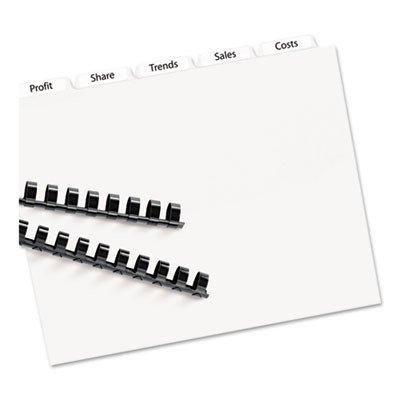 Index Maker Clear Label Unpunched 5-Tab Dividers White 5 SetsPack AVELSK5U