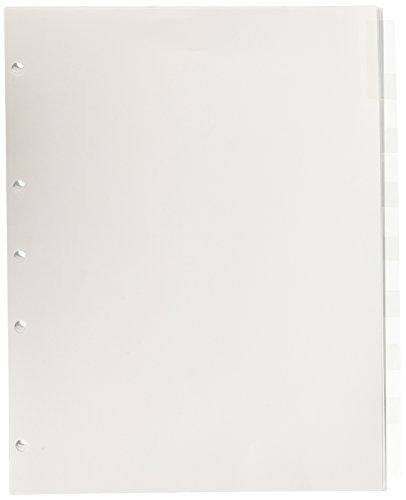 Wilson Jones Insertable Tab Dividers 8-Tab Set Clear Tabs W54312A