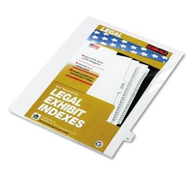 KLF82247 - Kleer-Fax Legal Exhibit Numbered Index Dividers