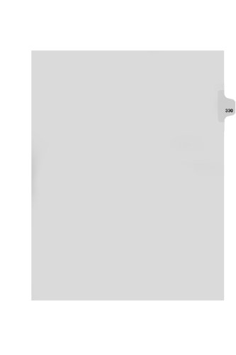 Kleer-Fax Letter Size 125th Cut Side Tab Individually Numbered Index Dividers Pack of 25 White 88330