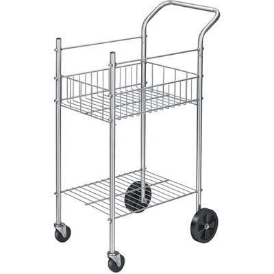 Economy Mail Cart 2-Shelf 20-12w x 38d x 39-14h Chamois