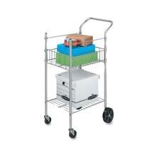 Fellowes Economy Mail Cart Two-Shelf 20-12w x 38d x 36-12h Chamois