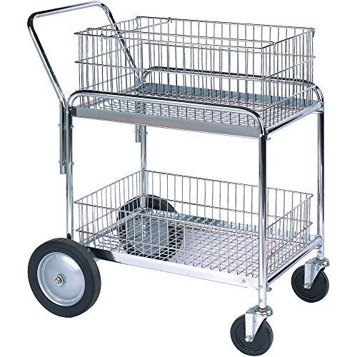 Mail Cart 33 12 x 23 34 x 38 14 Silver 1Each