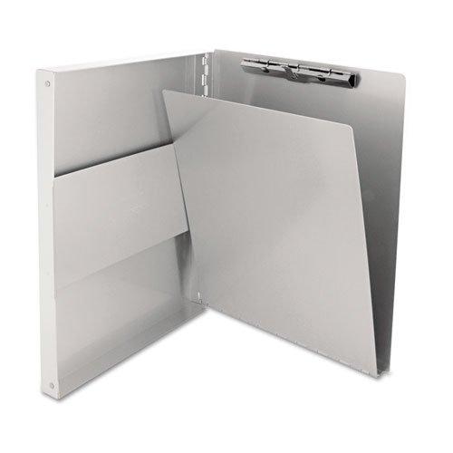 Snapak Aluminum Side-Open Forms Folder 12 Clip 8 12 x 12 Sheets Silver