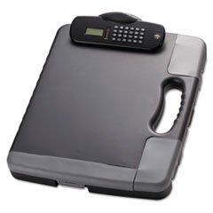 -- Portable Storage Clipboard Case wCalculator 11 34 x 14 12 Charcoal