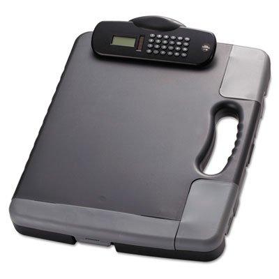 Portable Storage Clipboard Case wCalculator 11 34 x 14 12 Charcoal