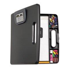 Portable Storage Clipboard Case wCalculator 12w x 13 110h Charcoal