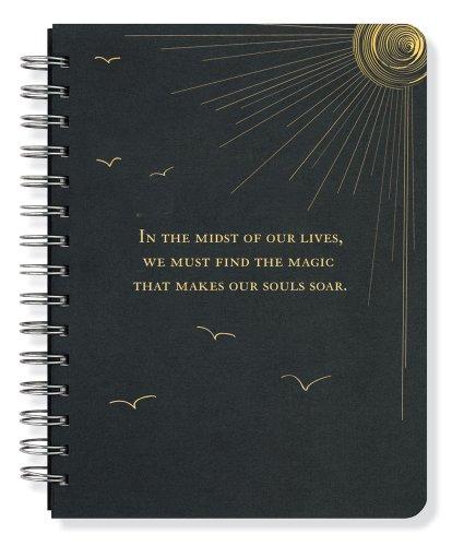 Soar Journal Notebook Diary Black Rock