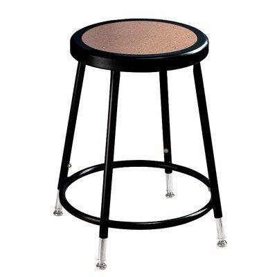 National Public Seating NPS 6218H-10 18 Adjustable Height Steel Stool Black