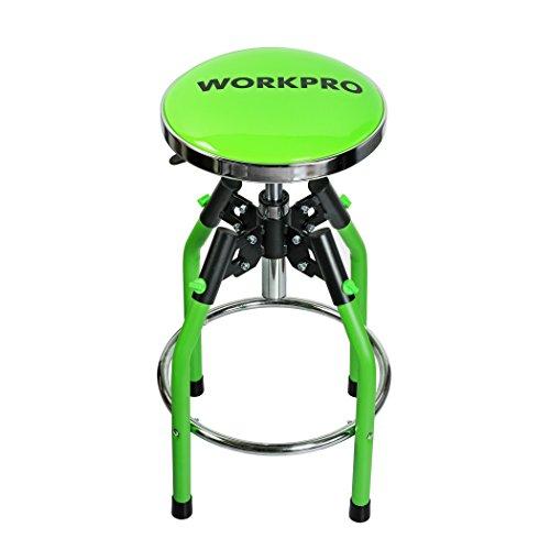 WORKPRO Heavy Duty Adjustable Hydraulic Shop Stool Green