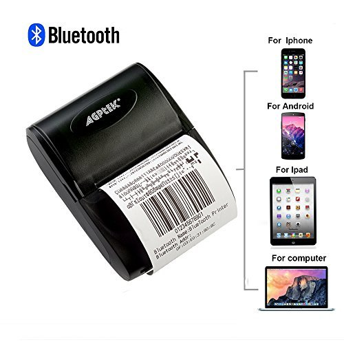 AGPtEK 58mm Mini BluetoothUSB Pocket POS Thermal Receipt Printer for Android iOS Drive Software NeededCould Power by Rechargeable BatteryPlease Contact Customer Service to Get The Video Link