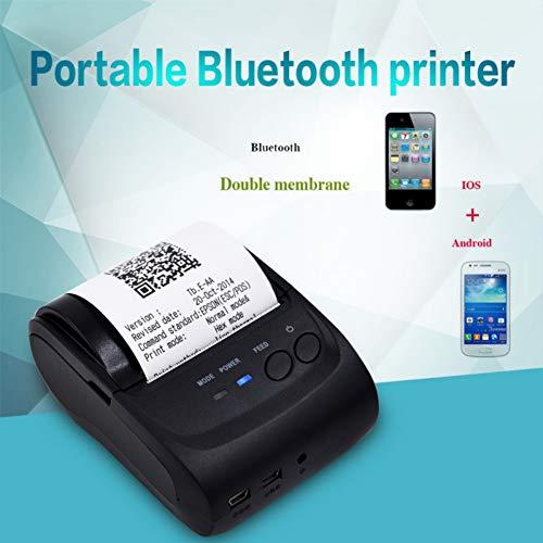 SuperCS Portable Mini Bluetooth Printer Receipt Printer 58mm Bluetooth Pocket Printer Thermal Support iOS Android