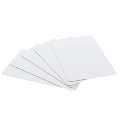 200 Pack - Premium Blank PVC Cards for ID Badge Printers - Graphic Quality White Plastic CR80 30 Mil CR8030 By Specialist ID - Compatible with Most Photo ID Badge Printers White
