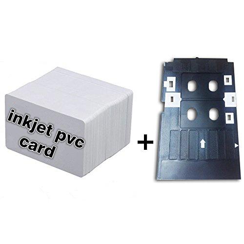 Inkjet PVC ID Card Starter Kit - Printable Inkjet PVC ID Card  Plastic Inkjet PVC ID Card Tray for Epson L800 L801 10