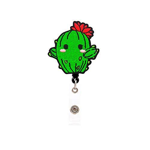 Heyah Cactus Badge Reel Alligator Clip Retractable Badge Holder ID Badge Clip for Women Nurse