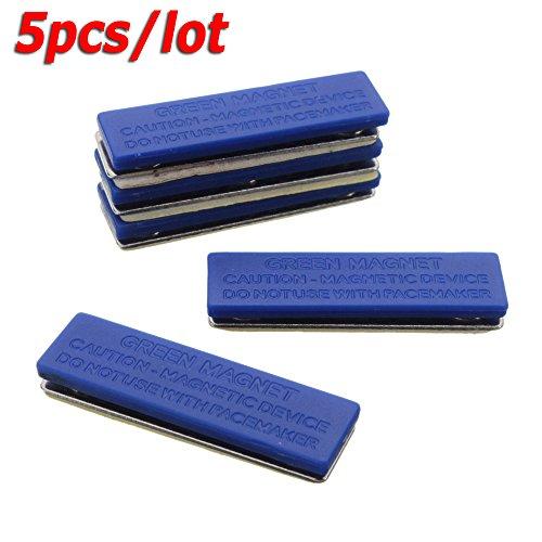 5pcs Blue Strong Magnetic Name ID Card Tag Holder Badge Fastener Holder