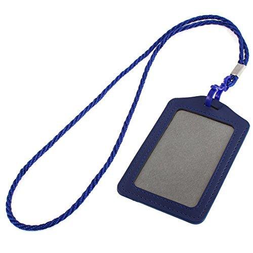 DealMux Office School Vertical Lanyard Name ID Card Tag Badge Holder Dark Blue