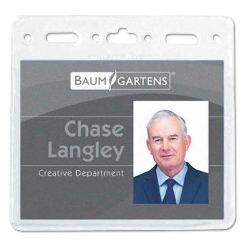 Baumgartens 67830 Vinyl Badge Holder 4 x 3 Clear 50Pack Sold As 1 Pack