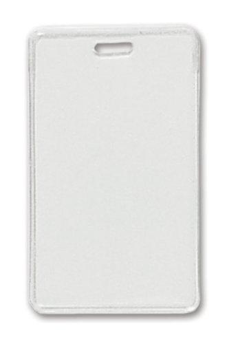 Clear Vinyl Vertical Proximity Badge Holder with Slot - 100pk MyBinding 1840-5050 Clear