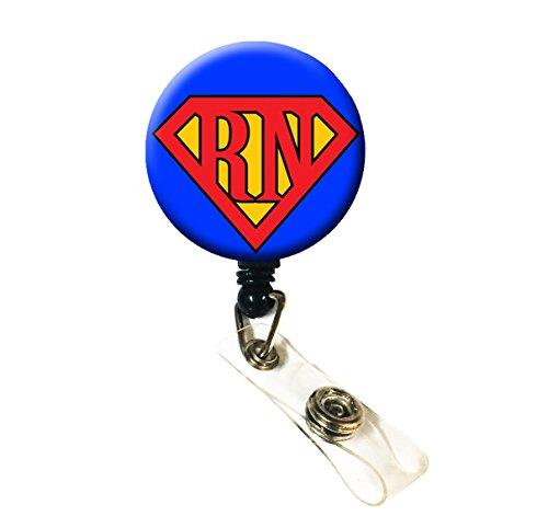 WigsPedia Retractable Name ID Badge Holder ReelID Badge Holder - Super RN Alligator Clip Back