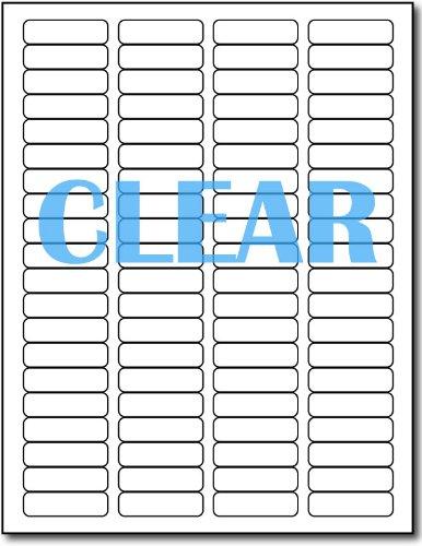 Crystal Clear Return Address Labels for Laser Printers - 12 x 1 34 - 80 per Sheet - 800 Labels