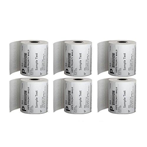MFLABEL 6 Rolls 250 4 x 6 Direct Thermal Zebra 2844 Zebra 2843 2844z Labels Eltron