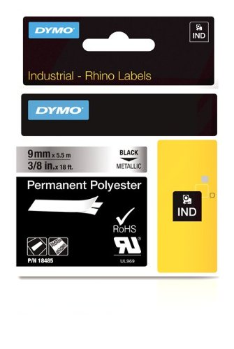 DYMO RhinoPRO Industrial-Strength Permanent Adhesive Fabric Label Tape 38-inch 18-foot Cassette Metallized 18485