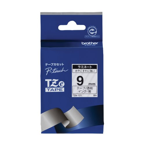 Brother TZe tape laminate tape transparent land  surplus 9mm TZe-121 japa