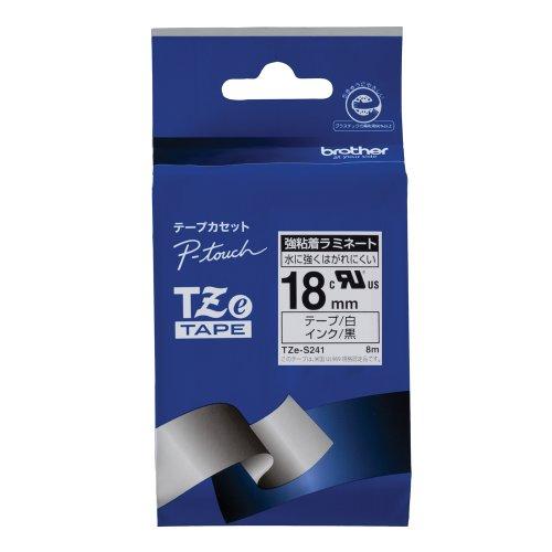 Brother TZe tape strong adhesive laminate tape white  black 18mm TZe-S241 japan import