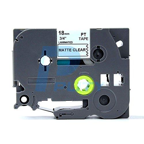 IDIK 1PK Black on Matt Clear Standard Laminated Label Tape Compatible For Brother P-Touch TZe-M41 TZM41 TZeM4118mm x 8m