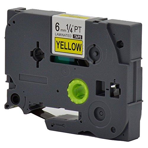 NEXTPAGE Black on Yellow TZ-611 Brother Compatible Label Tape 14x262ft 6mmx8m for PT340 ST1150 ST1150DX PT1300 PT1700 PT1750 PT1760 PT1800 PT1810 PT1830