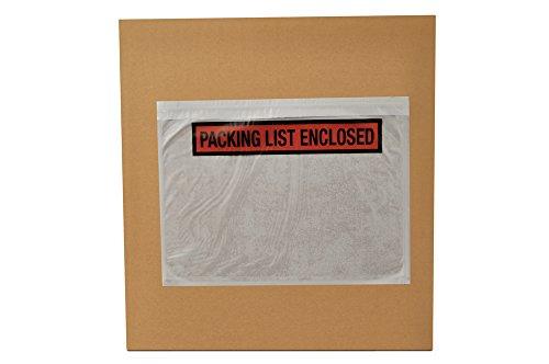 75 x 55 Packing List Enclosed Top Loading Envelopes Pouches 1000 pcs