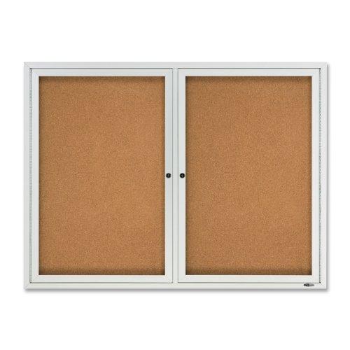 Quartet Outdoor Cork Bulletin Board Enclosed 4 x 3 Feet Aluminum Frame 2124