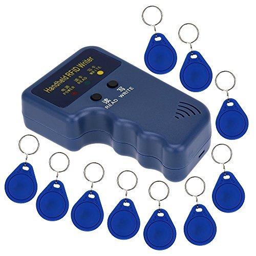 KKmoon Handheld 125KHz RFID ID Card WriterCopier Duplicator  10pcs Writable EM4305 Key Cards